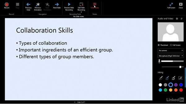 The Office Mix interface: Create Flipped Classroom Lessons with Office Mix