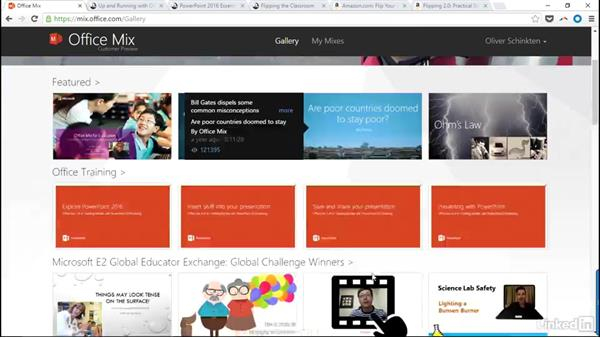 Next steps: Create Flipped Classroom Lessons with Office Mix