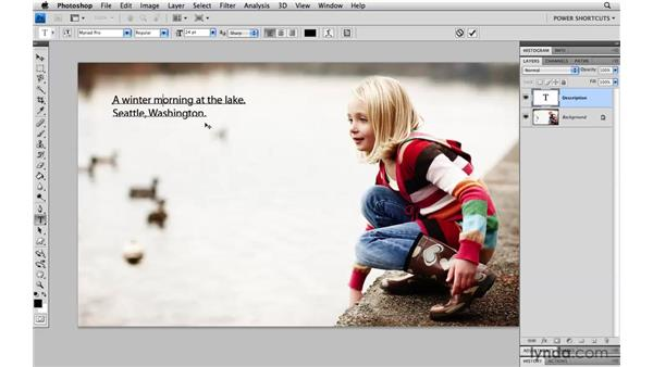 Accessing the Character and Paragraph panels: Photoshop CS4 Power Shortcuts