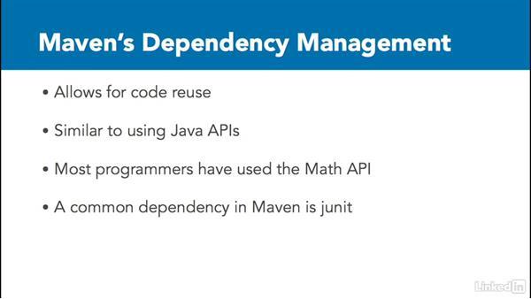 Maven's dependency management: Java Build Automation with Maven