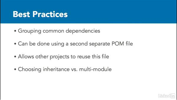POM best practices: Java Build Automation with Maven