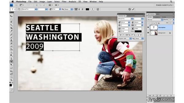 Kerning and tracking keyboard shortcuts: Photoshop CS4 Power Shortcuts