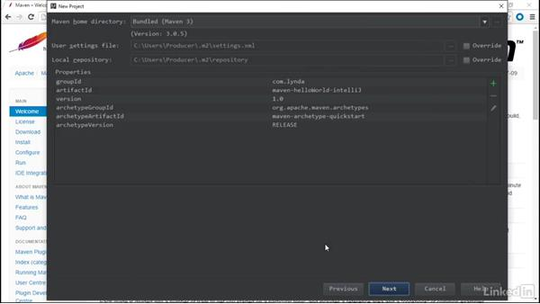 Create a sample with IntelliJ: Java Build Automation with Maven