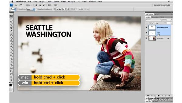 Changing multiple type layers at once: Photoshop CS4 Power Shortcuts