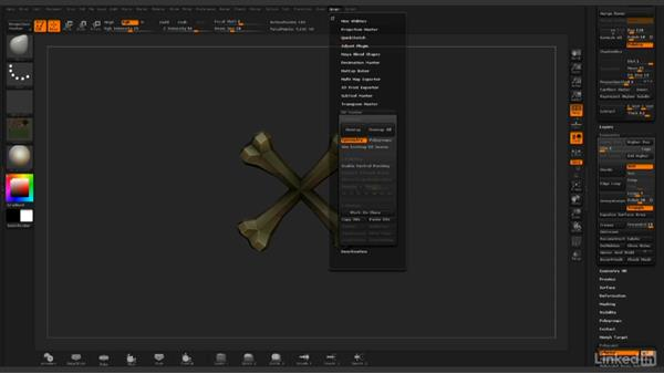 Using UV Master to quickly unwrap organic shapes: ZBrush: Rendering