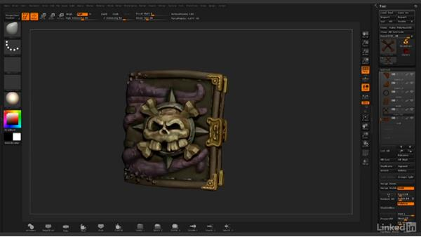 Finalizing book reconstruction: ZBrush: Rendering
