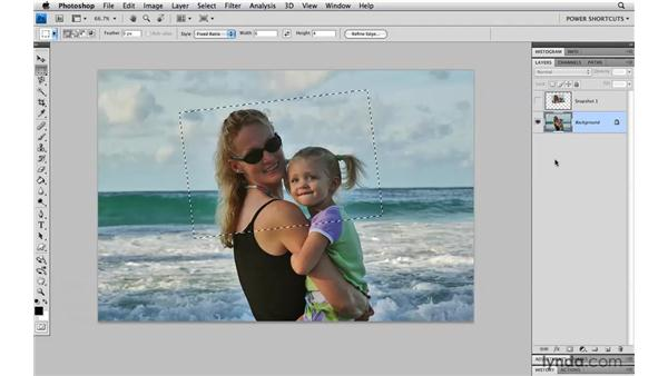 Turning selections into layers: Photoshop CS4 Power Shortcuts