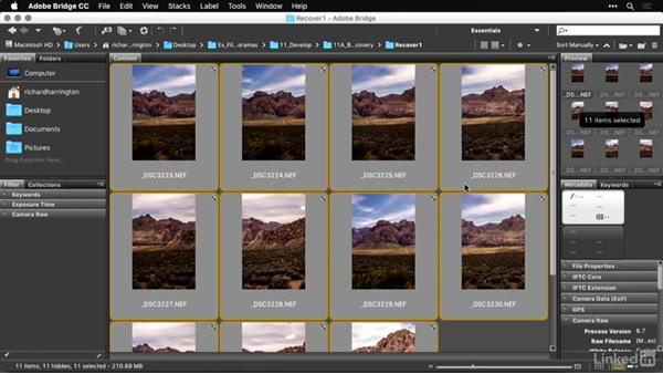 Basic exposure with Camera Raw: Shooting and Processing Panoramas