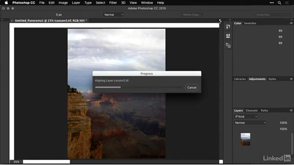 Initiating the Photomerge Command from Photoshop: Shooting and Processing Panoramas