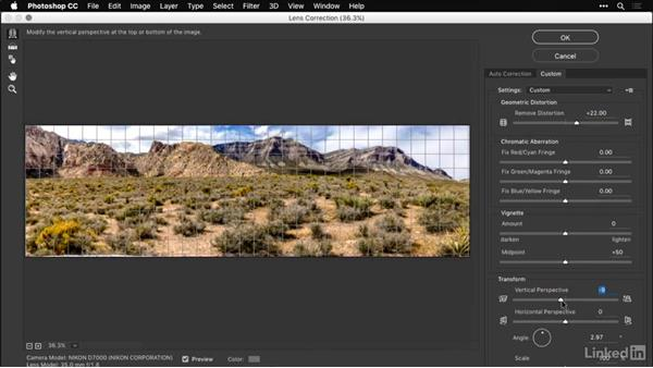 Compensating for lens distortion: Shooting and Processing Panoramas
