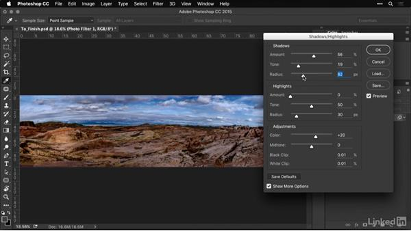 Refining shadows and highlights: Shooting and Processing Panoramas