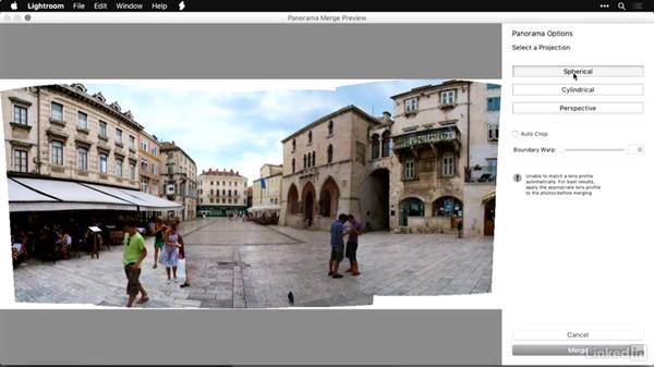 Choosing an alignment method in Lightroom: Shooting and Processing Panoramas