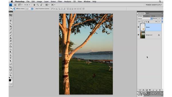 Cycling through the blend modes: Photoshop CS4 Power Shortcuts