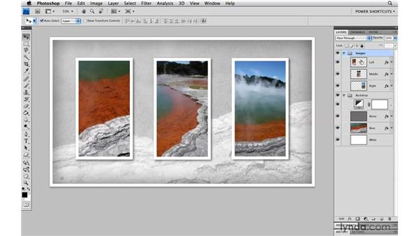 Merging layers: Photoshop CS4 Power Shortcuts