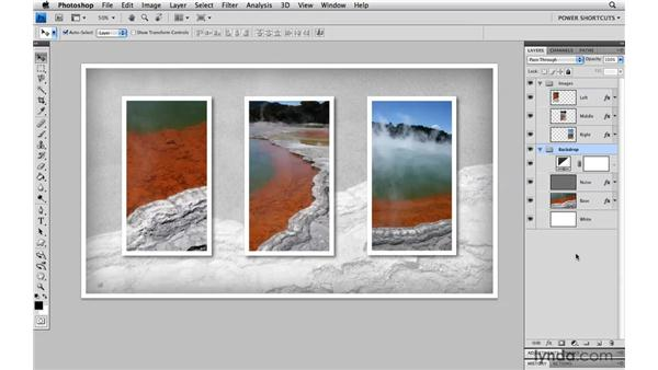 Creating a composite copy of a layer group: Photoshop CS4 Power Shortcuts