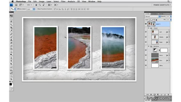 Creating a composite copy of visible layers: Photoshop CS4 Power Shortcuts