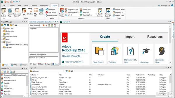 Creating online glossaries: RoboHelp 2015 Essential Training