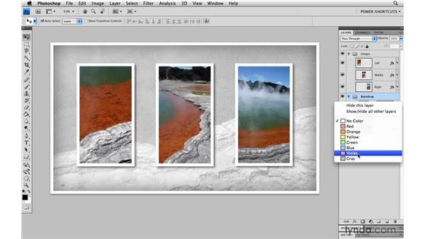 Color-coding layers: Photoshop CS4 Power Shortcuts