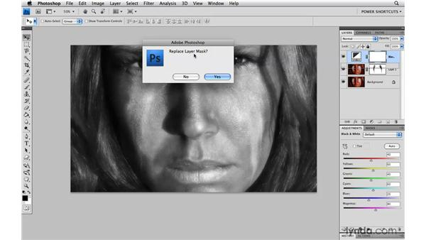 Duplicating a layer mask: Photoshop CS4 Power Shortcuts