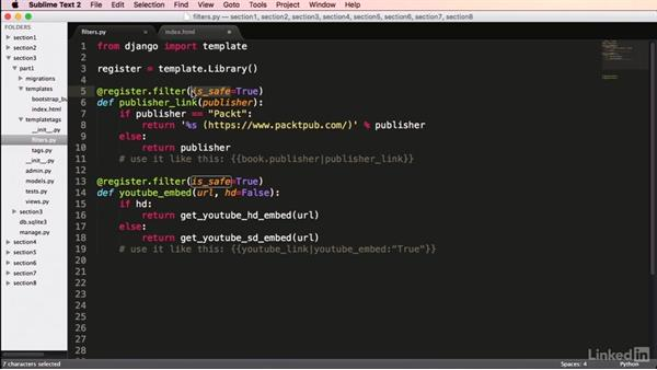 Creating template filters: Mastering Django Web Development