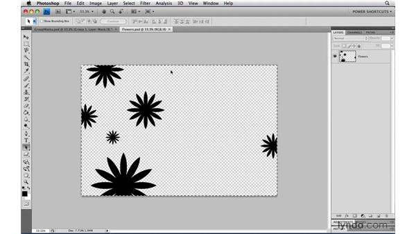 Pasting into a layer mask: Photoshop CS4 Power Shortcuts