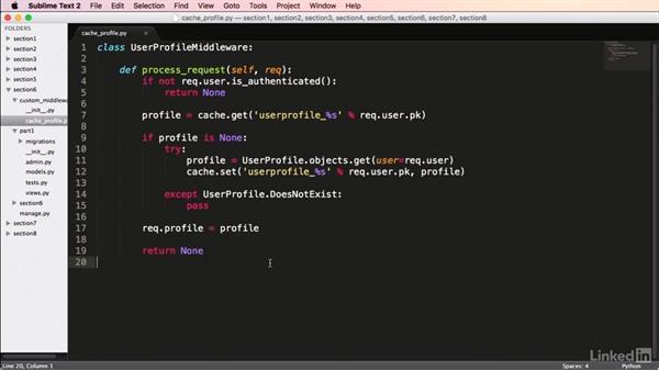 Caching with middleware: Mastering Django Web Development