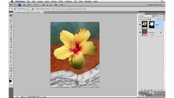Moving layers and layer masks: Photoshop CS4 Power Shortcuts