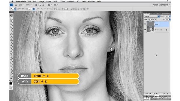 Inverting layer masks: Photoshop CS4 Power Shortcuts