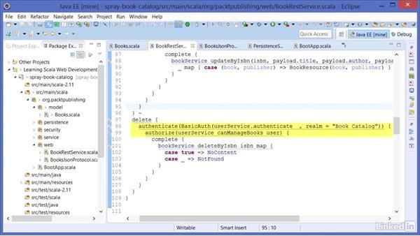 Authorization: Learning Scala Web Development