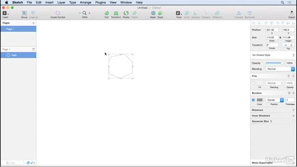 Create a vector with with the Pen tool: Learn Sketch: Creating Vector Graphics