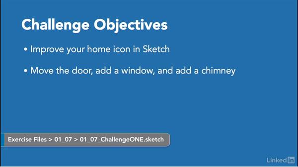 Challenge: Improve your home icon: Learn Sketch: Creating Vector Graphics