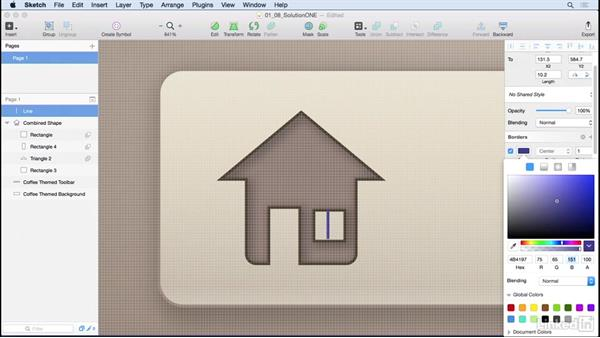 Solution: Improve your home icon: Learn Sketch: Creating Vector Graphics