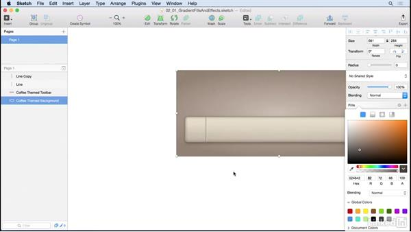 Fills, effects, and custom dividers: Learn Sketch: Creating Vector Graphics