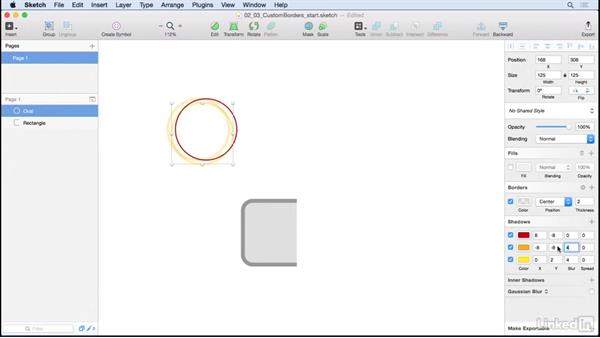 Custom borders and effects: Learn Sketch: Creating Vector Graphics