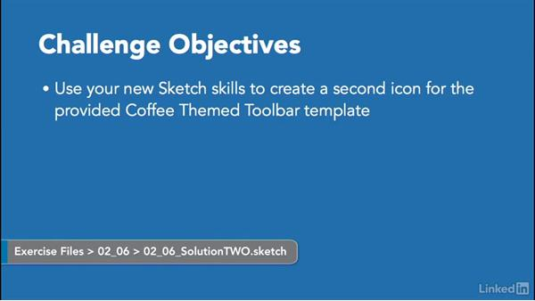 Challenge: Use your new skills to create an icon: Learn Sketch: Creating Vector Graphics