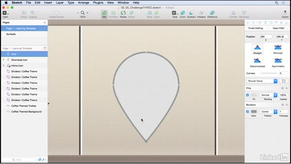 Solution: Create a map location icon: Learn Sketch: Creating Vector Graphics