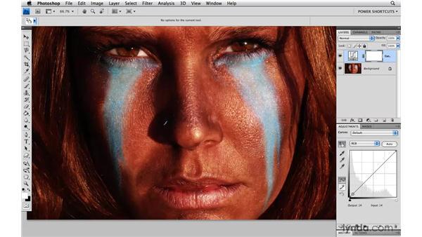 Targeted Curves adjustments: Photoshop CS4 Power Shortcuts