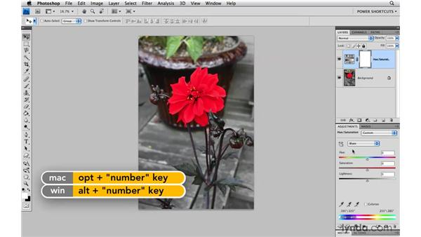 Cycling through Hue/Saturation colors: Photoshop CS4 Power Shortcuts
