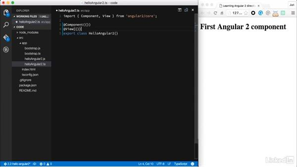 The course overview: Learning Angular 2 Directives