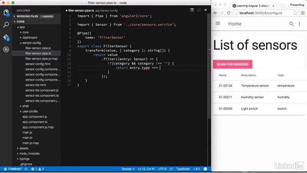 Creating a general purpose filter: Learning Angular 2 Directives