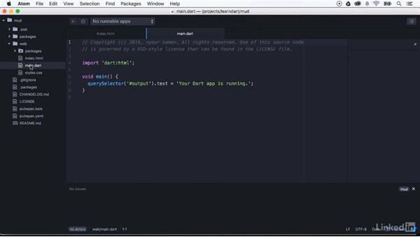 Creating DOM interactions: Learning Dart