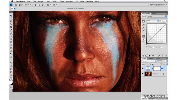 Setting a curve point in each color channel: Photoshop CS4 Power Shortcuts