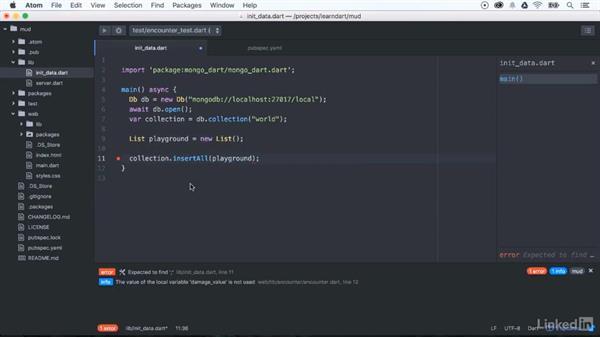 Adding data to MongoDB: Learning Dart