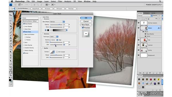 Saving a layer style: Photoshop CS4 Power Shortcuts