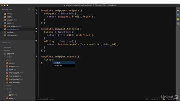 Additional interactivity: Learning Meteor Application Development