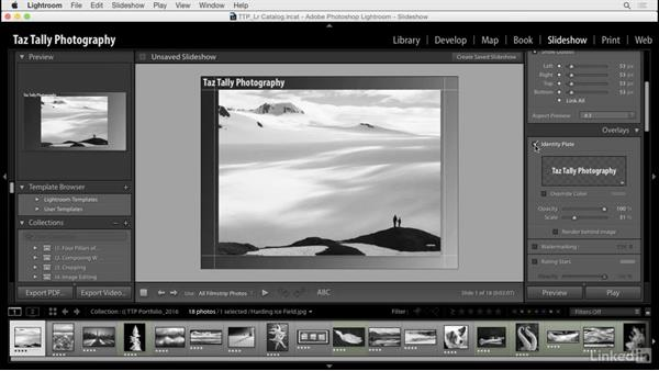 Create and switch between identity plates: Lightroom: Customizing Tips and Techniques