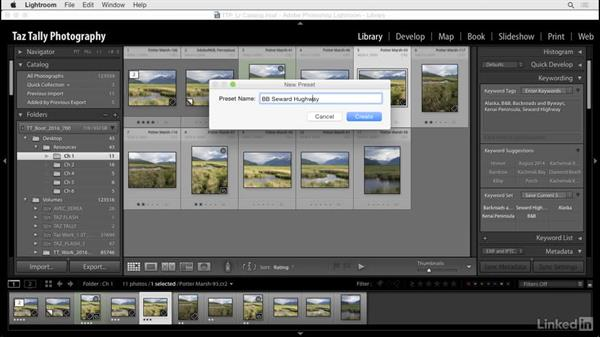 Create and use keyword sets: Lightroom: Customizing Tips and Techniques