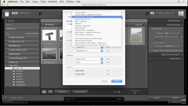 Create file name templates: Lightroom: Customizing Tips and Techniques