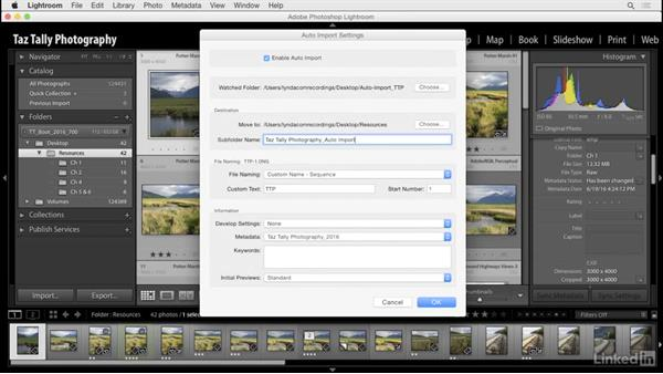 Use auto-import: Lightroom: Customizing Tips and Techniques