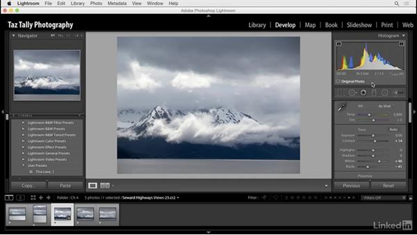 Create user presets for common develop settings: Lightroom: Customizing Tips and Techniques